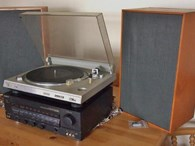 Sony Turntable/ Sony Amplifier + Richard Alan Speakers