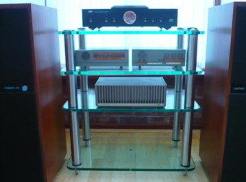 19mm glass and stainless , hi-fi stand , over-engineered,