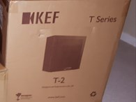 KEF  T2 Subwoofer - Black - Brand New