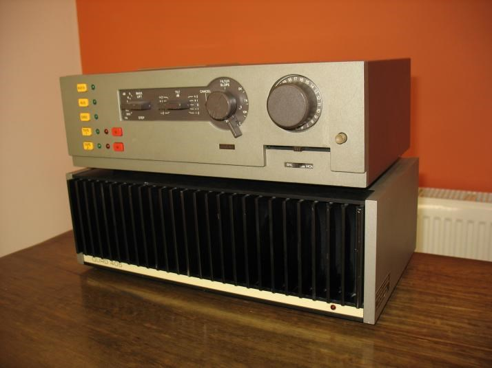 Quad 44 Control Unit & Quad 405 Power Amp - Transistor Power